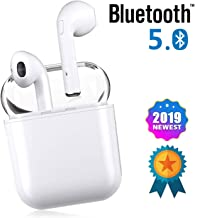 Bluetooth Earbuds, White Wireless Earbuds in Ear Headphones Noise Cancelling Headset Compatible with iPhone XR X 8 8p 7 7P, Samsung Galaxy S9 Huawei & Other Apple Airpods Android/iPhone