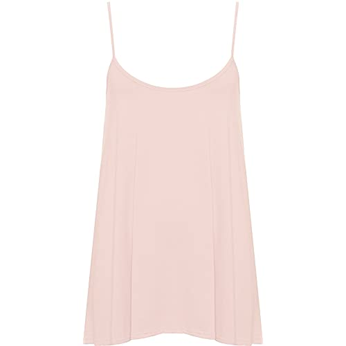 102d3784a7b WearAll Plus Size Womens Plain Strappy Sleeveless Ladies Swing Cami Vest Top  - 16-22