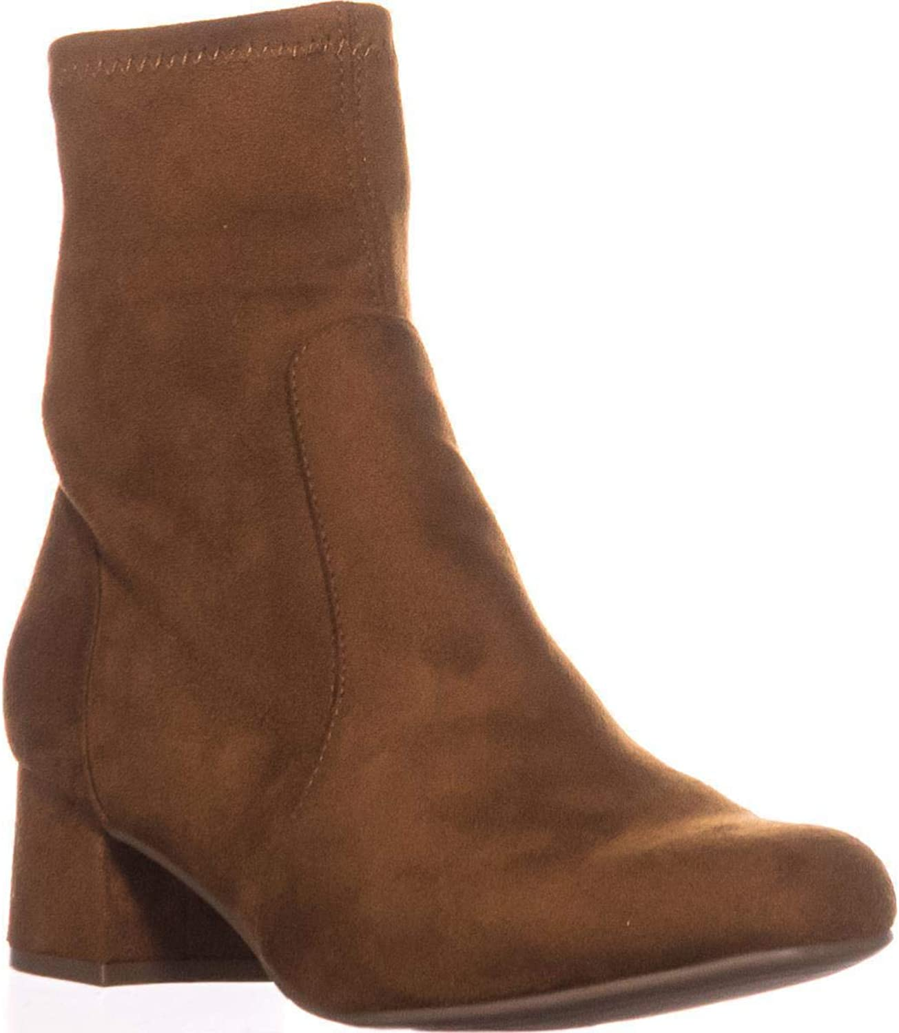 Naturalizer Daley Block-Heel Ankle Boots, Brandy
