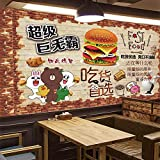 Ksnrang Dipinto a Mano deliziose Patatine Fritte Hamburger Sfondo Carta da Parati KFC Pollo Fritto Latte tè Bevanda Fredda Pollo Bistecca caffè Carta da Parati murale-400 * 280cm