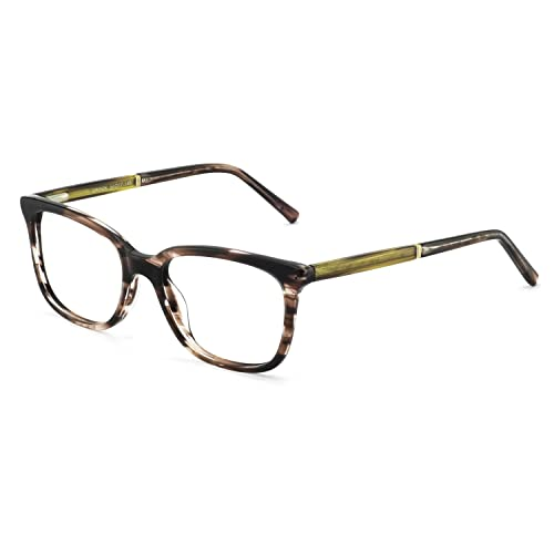0c9fe9ee25b8 OCCI CHIARI Womens Rectangle Stylish Eyewear Frame Non-Prescription Clear  Eyeglasses