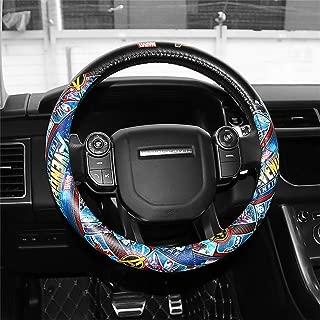 Car Steering Wheel Cover, Marvel Car Steering Wheel Cover Four Seasons Pu Leather Universal Type,D