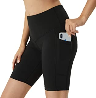 BEGIANT Women's Yoga Short with Pockets Tummy Control Workout Running Non See-Through Leggings