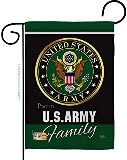 "G158410-BO Army Proudly Family Americana Military Veteran Retire Decorative Official Licensed United State 13"" x 18.5"" Double Sided Garden Flag"