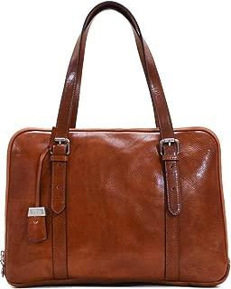 Floto Salerno Women's Leather Business Shoulder Bag Briefcase Messenger Bag