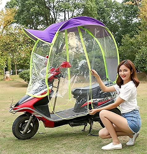 NIHE Cubierta de Lluvia Cubierta de Parasol de Motocicleta eléctrica Universal, Paraguas de Scooter de Motor Completamente Cerrado Movilidad Sol Sombra y Cubierta de Lluvia Impermeable