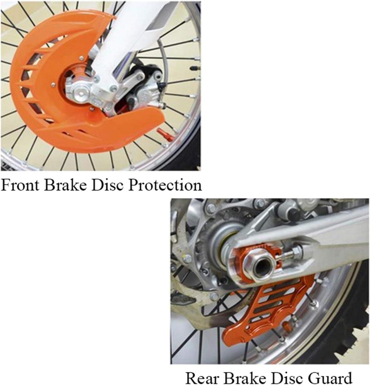 XIAOZHIWEN Motocicli Pellicola protettiva per la protezione del disco del freno posteriore anteriore per KTM 125 200 250 300 350 400 450 450 450 450 450 530 530 ExcF SX SXF XC XCF Exc-F 2003-2014 Stur