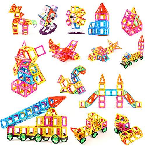 TGRBOP 234Pcs Magnetische Bausteine, Magnetstapel-Set 3D-Bausteine Mehrfarbiges Baukasten STEM Lernspielzeug Geschenke Für Jungen Und Mädchen
