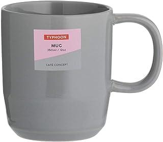 Typhoon 1401.842 Cafe Concept 12 Oz Mug Dark Grey 350ml, Stoneware
