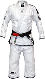 Bad Boy Rip Stop BJJ Gi Brazilian Jiu-Jitsu Kimono - White