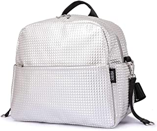 Redland Art Mommy Maternity Diaper Bags Solid Fashion Large Capacity Women Nursing Bag For Baby Care Stylish Outdoor Mommy Bags (Color : Silver)