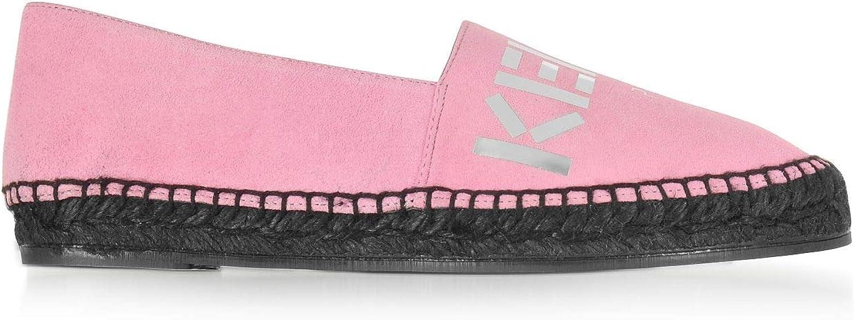 KENZO Women's F762ES182L8534 Pink Suede Espadrilles