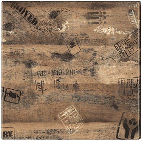 Werzalit Tischplatte, Dekor Ex Works 60x60 cm wetterfest Ersatztischplatte Bistrotisch Stehtisch Tisch Gastronomie