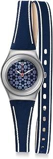 Swatch Women's YSS290 Blue Street Wrist Year-Round Analog Quartz Blue Watch