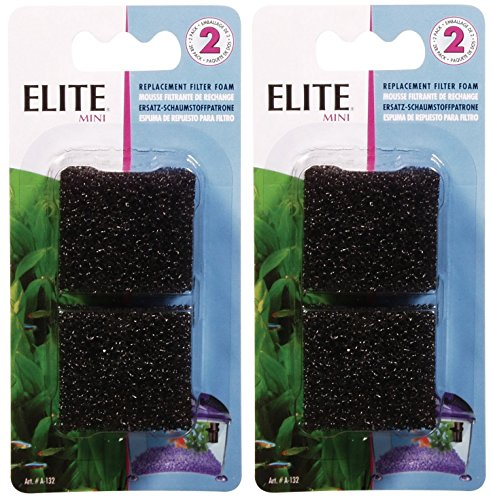 Elite Filter Cartridge for Mini Underwater Filter, 4-Pack (2 Packages with 2 Filters each)