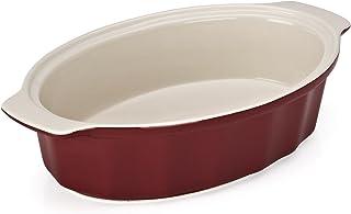 Good Cook 04489 OvenFresh Stoneware Ceramic Casserole Dish, 1.75 quart, Red