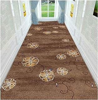 Non-Slip Carpet YANZHEN Hallway Runner Rugs Non-Slip Mat Front Door Bathroom Soft Non-Slip Washable Blended Fibers, Brown ...