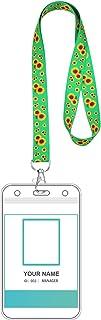 Fugift 10 correas transparentes duraderas con diseño de girasoles con soporte para tarjetas de identificación, billete de ...