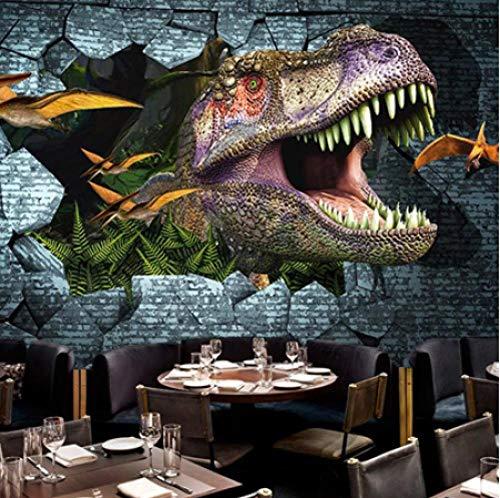 FVeng LIN Carpet Photo Wall Paper 3D Dinosaurs Wall Painting Mural Wallpaper Bedroom/kid'sroom/KTV/Bar Backdrop Wall Mural-250cmx175cm