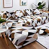 Fundas de sofá de Esquina en Forma de L para Sala de Estar Fundas de sofá Funda de sofá elástico elástico seccional Sofá Cubre Sofá A11 1 Plaza