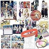 YUMOYA Sword Art Online Gift Set, Anime Gift Box Set, Anime Periphery, Japan Anime Design, Incluye Póster/Postal/Pegatina/Marcador/Insignia De Metal, Regalo De Cumpleaños De Navidad De Halloween