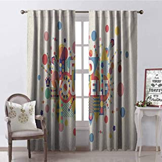 Tapesly Quote Wear-Resistant Color Curtain Find Yourself Colorful Typographical Poster Style Inspirational Quotes Print Waterproof Fabric W42 x L90 Inch Blue Yellow Red