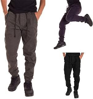spyman Fashion Men Casual Joggers Dance Sportwear Baggy Harem Long Pants Slacks Trousers Sweatpant Autumn Black XXL