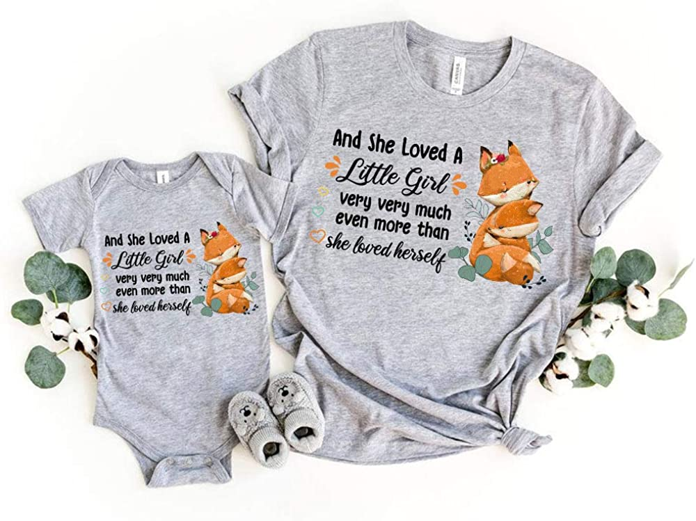 Cute Watercolor Foxes Mom Baby Shower Max 49% OFF Set Atlanta Mall Onesie Girl Per