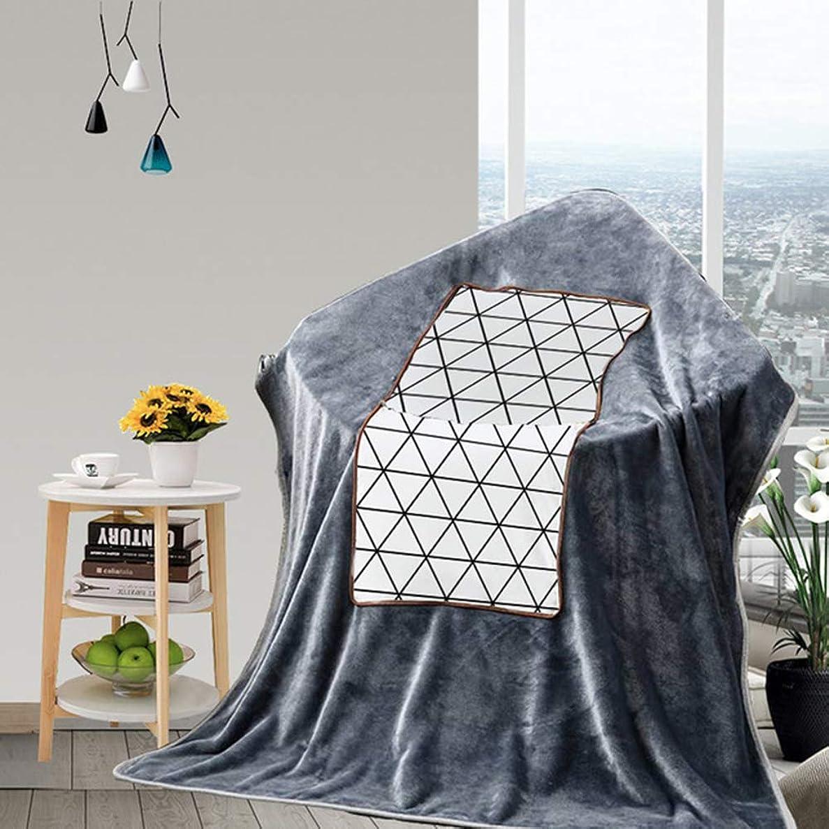 ドール動員する朝食を食べる飛行機の列車と車/首と腰部のサポートのための枕ブランケット2 in 1、ソファ枕/装飾クッション(毛布に変形可能),白