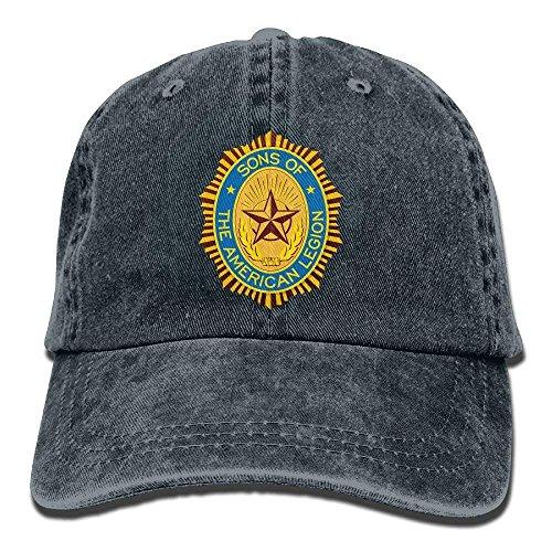 Hoswee Unisexo Gorras de béisbol/Sombrero, Sons of The American Legion Cotton Adjustable Cowboy Hat Baseball Caps for Adult Navy