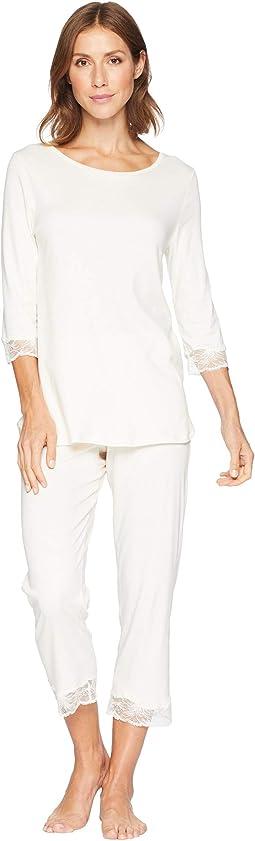 Valencia 3/4 Sleeve Cropped Pajama Set