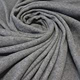 Stoff Meterware Fleece Polar - Fleece weich kuschelig grau