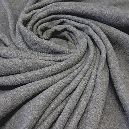 Stoff Meterware Fleece Polar - Fleece weich kuschelig grau Kleiderstoff Preis pro Meter