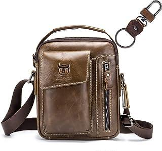 Genuine Leather Men Messenger Bag, Men's Leather Sling Bag, Casual Crossbody Bag, Business Men's Handbag Bags for Gift Shoulder Bag