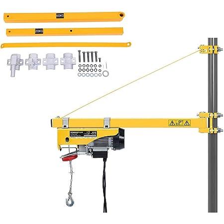 Yonntech pivotant Bras de 75 cm à 110 cm enroulement Palan électrique Swing support Bras de levage pour bras de support 600 kg Capacité de charge