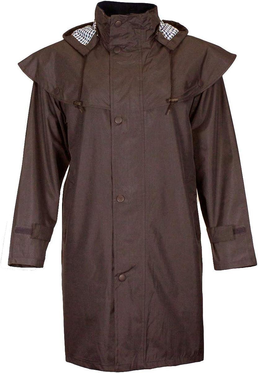 Womens Riding Rain Jacket G5 APPAREL Ladies Fiona 3//4 Length Waterproof Cape Jacket