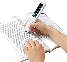 Hanvon Pen Scanner,Portable Scanning Pen,OCR Digital Highlighter and Exam Reader Pen Scanner, Recording Translation Pen, Synchronous Reading, White