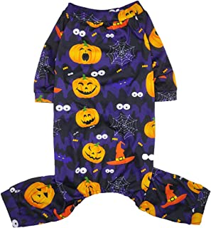 Lamphyface Halloween Dog Pajamas Clothes Pet Costume Apparel Coat Jumpsuit