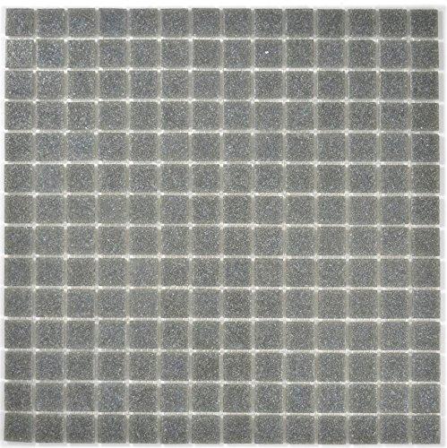 Mosaik Fliese Glas grau für BODEN WAND BAD WC DUSCHE KÜCHE FLIESENSPIEGEL THEKENVERKLEIDUNG BADEWANNENVERKLEIDUNG Mosaikmatte Mosaikplatte