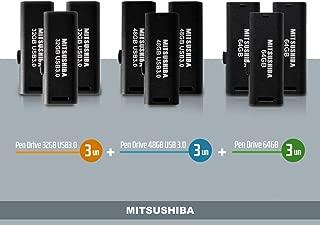 Kit Pen Drive 32GB(usb 3.0) 3pcs+ 48GB(usb 3.0) 3pcs+ 64GB 3pc Mitsushiba