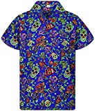 V.H.O. Funky Camisa Hawaiana, Skull, multiblue, XS