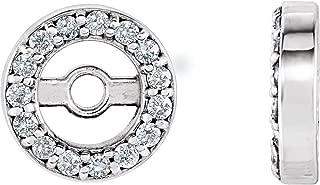 Jewels By Lux 14K Yellow Gold 4.4mm ID .08 CTW Diamond Earrings Jackets