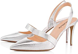 MerryDate Chaussures de Danse Latine Standard Salle de Bal Chaussures pour Femme/&Fille Chaussures de Danse pour Tango//Valse//Samba//Salsa Sandale Talon Haut Chaussures de Pilates