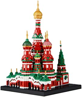 Geniteen Building Block Set, Saint Basil's Cathedral Architecture Model Micro Mini Blocks, Educational Toy, Gifts for Chil...