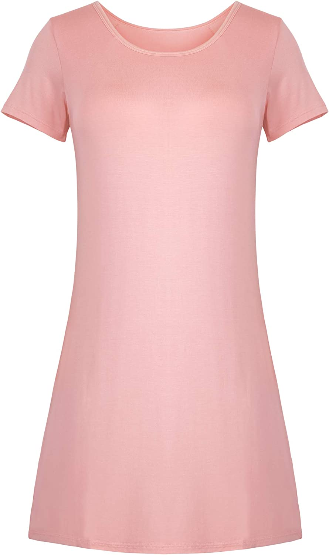 DYLH Nightshirts Women Self Bra Plus Size Sleep Tee Nightshirt