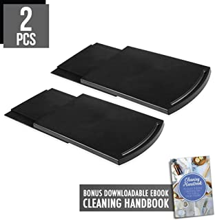 2pcs Coffee Maker Trays, Handy Caddy Sliding Tray with Smooth Base Wheels for Countertop Storage Drawer Shelf Under Cabinet, Hold Up to 25lbs for Coffee Maker Blender Toaster Kitchen Appliances