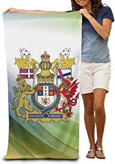State Arms of Lovely Adult Beach Towels Fast/Quick Dry Machine Washable Lightweight Absorbent Plush Multipurpose Use for Swim,Beach,Camping,Yoga