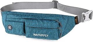 Waterfly Fanny Pack نازک پلی استر نرم و مقاوم در برابر آب بسته کیسه کمر برای زنان مرد آیفون 8 سامسونگ S6