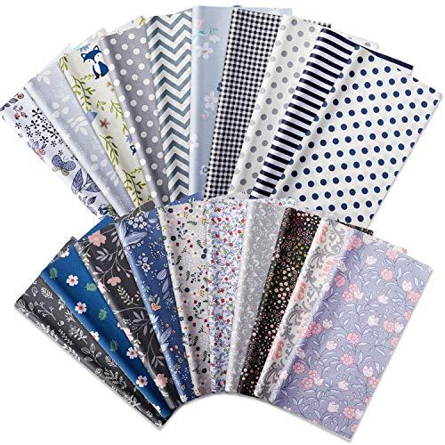 20 Pieces 25 x 25 cm Patchwork Fabric Bundles Square Patchwork Assorted Patterns...