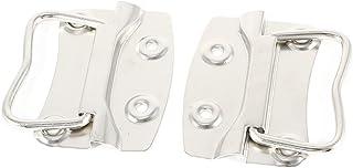 Tono plateado tornillo puerta tirador mueble aparador con 45 cm de 2 piezas